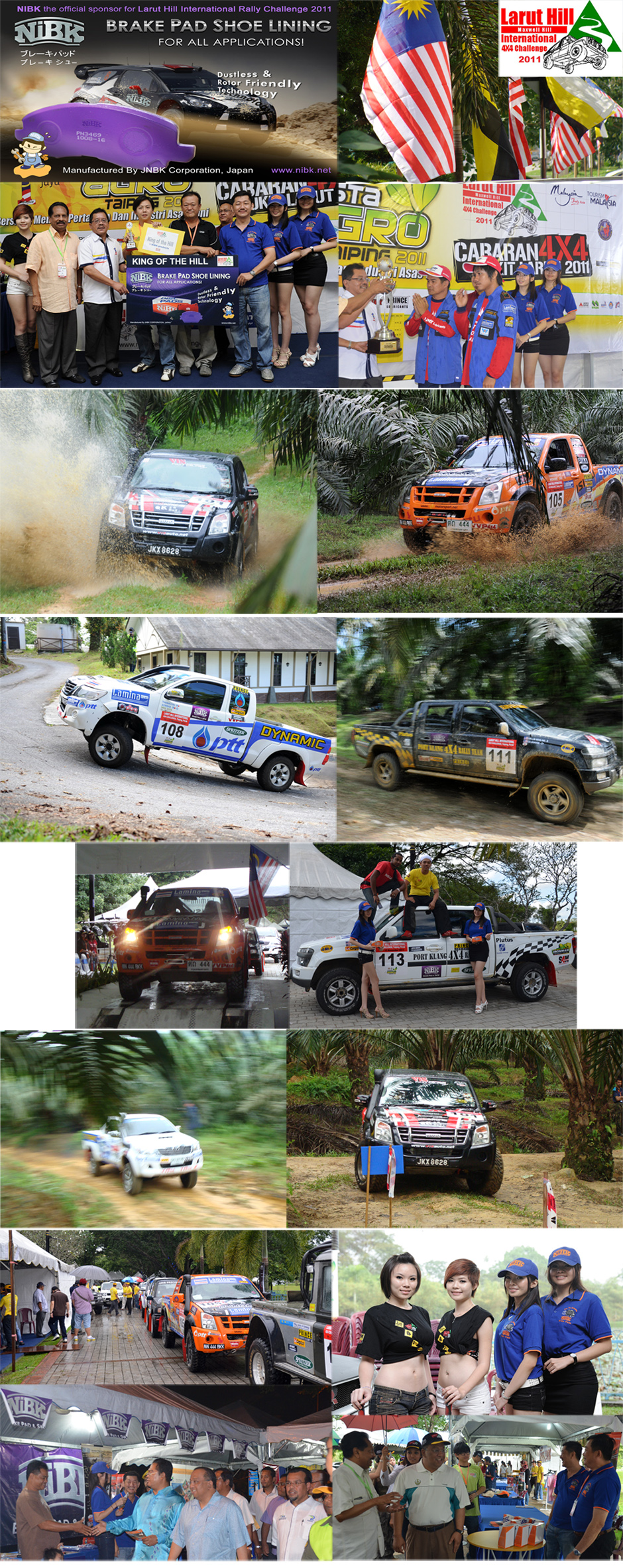 NiBK official sponsor for larut hill international rally 4x4 challenge 2011