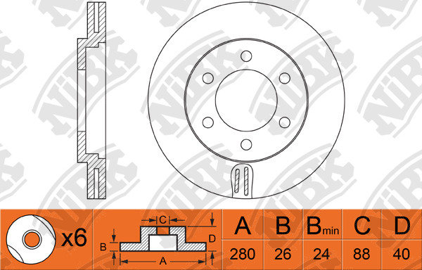 nibk brakes application cross reference and image for nibk rotor rh jnbk brakes com Ford Front Disc Brake Diagram Ford Front Disc Brake Diagram