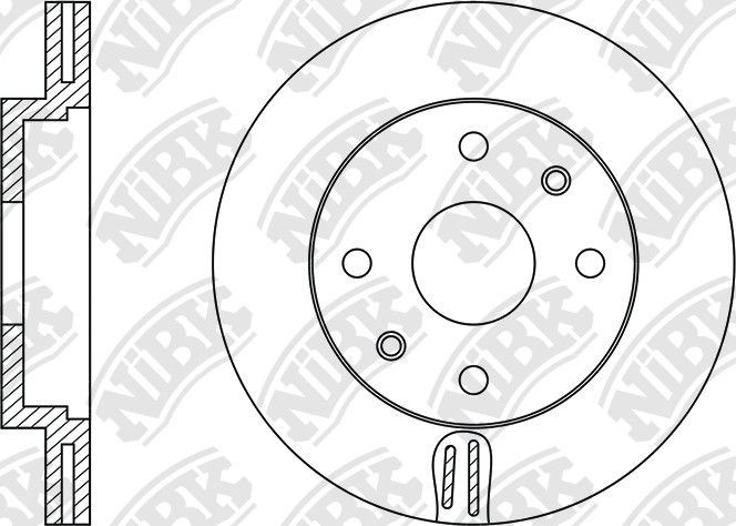 NiBK Brakes:: Application Cross Reference and Image for NiBK : ROTOR